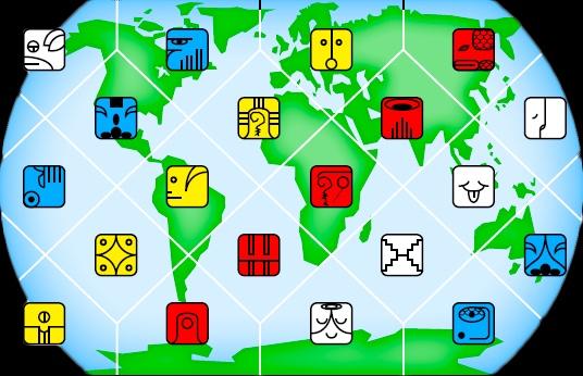 マヤ暦世界地図
